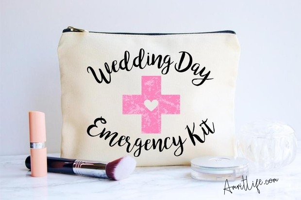 Essential items to have in a bride's survival kit on wedding day