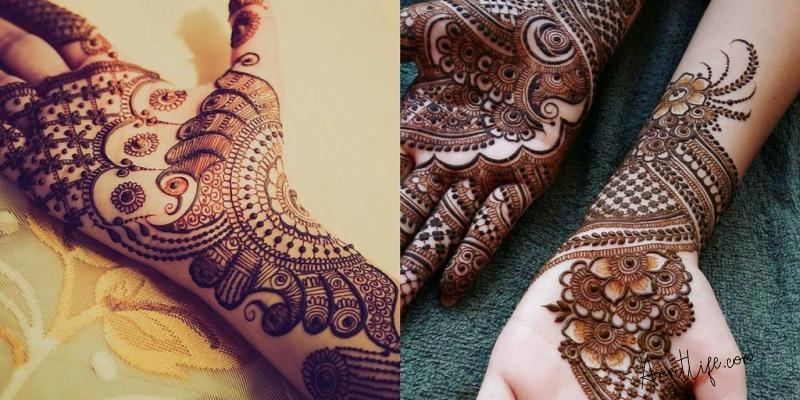 Stylish and Modern Bridal Mehndi Designs for Bride.